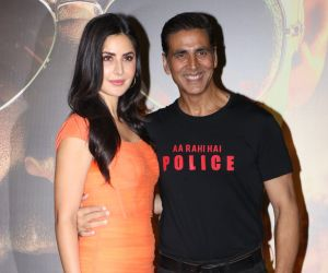 Actor Akshay Kumar and Katrina kaif at trailer launch of film Sooryavanshi
