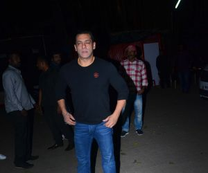 Actor Salman Khan celebrates his birthday at Mehboob Studio.