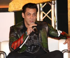 Actor Salman Khan in Dabangg3 Press Meet.