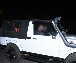 Actor Salman Khan spotted at bandra