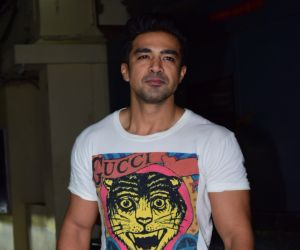 Actor Saqib Saleem at Screening of Angrezi Medium in pvr juhu