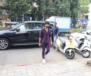 Actor Shahid Kapoor arrives on the sets of actress Neha Dhupia's chat show No Filter Neha - Season 4 in Mumbai