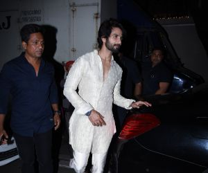 Actor Shahid Kapoor at actor Amitabh Bachchan's Diwali party
