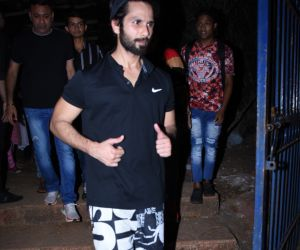 Actor Shahid Kapoor seen at Khar Gymkhana.
