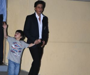 Actor Shahruk Khan and son at the annual day function of Dhirubhai Ambani International School.