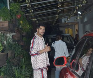 Actor Sidharth Malhotraat sunny sound juhu  for Screening of film Marjaavaan