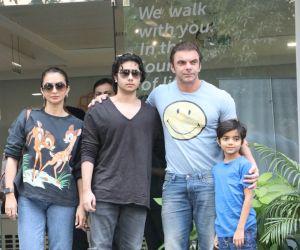 Actor Sohail Khan And Family visit at Hinduja Hospital.