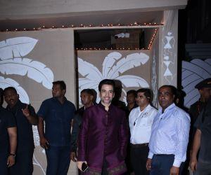 Actor Tusshar Kapoor at actor Amitabh Bachchan's Diwali party