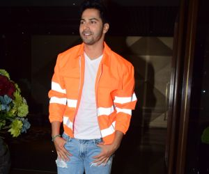 Actor Varun Dhawan attend Coolie No 1 wrapup party at Jacky Bhagnani's house in juhu