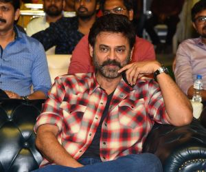 Actor Venkatesh in Venky Mama Pre Release Event of Venky Mama.