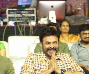 Actor Venkatesh in VenkyMama Movie Pre-Release Event.