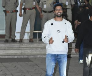 Actor Vicky Kaushal seen at airport in Kalina