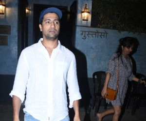 Actor Vicky Kaushal seen at bandra