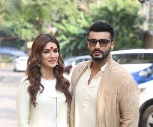 Actors Arjun Kapoor and Kriti Sanon During the Promotion of their film Panipat