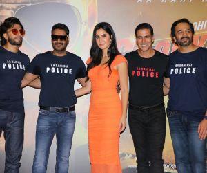 Actors at trailer launch of film Sooryavanshi