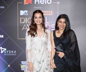 Actors Dia Mirza and Konkona Sen at of MTV - IWMBuzz Digital Awards 2019.