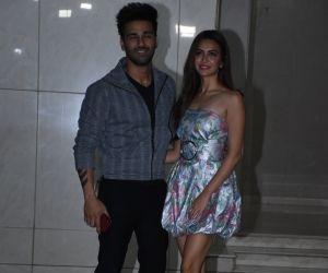Actors Pulkit Samrat and Kriti Kharbanda at Salman Khan birthday party.