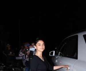 Actress Aditi Rao Hydari spotted at Bastian bandra