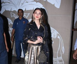 Actress Aditi Rao Hydari at actor Amitabh Bachchan's Diwali party