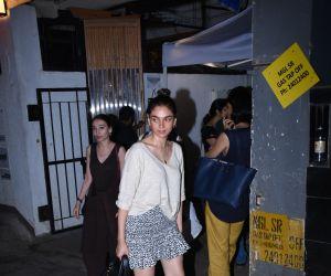 Actress Aditi Rao Hydari seen at izumi Hotel bandra.