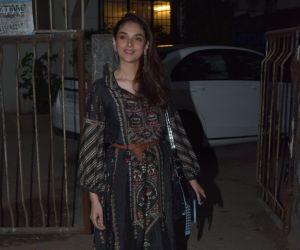 Actress Aditi Rao Hydari spotted at kromakey salon.