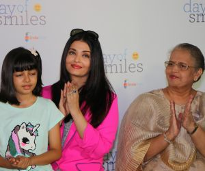 Actress Aishwarya Rai and her daughter Celebrates 'Day Of Smile' On her Late Father's Birthday.