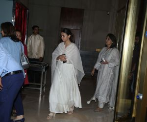 Actress Alia Bhatt Attend Manish Malhotra's father's prayer meeting.