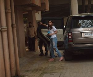 Actress Alia Bhatt seen at  Sanjay Leela Bhansali's office in Juhu.