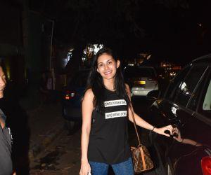Actress Amayra Dastur seen at bandra.