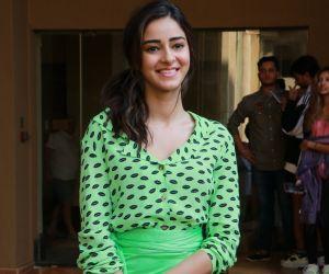 Actress Ananya Panday for promoting movie Pati Patni aur Woh