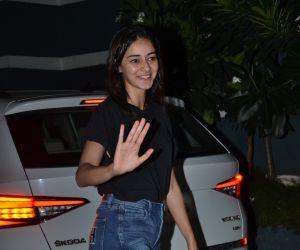 Actress Ananya Panday seen at Sanjay Kapoor's house in juhu.