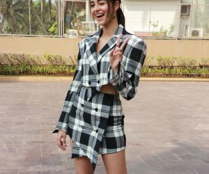 Actress Ananya Pandey in Pati Patni Aur Woh Movie Promotion.