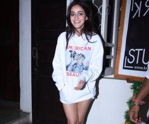Actress Ananya Pandey seen at krome studio in bandra.