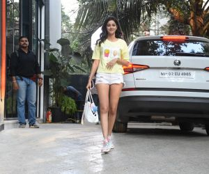 Actress Ananya Pandey seen at maddock office in santacruz