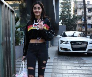 Actress Ananya Pandey Seen at Santacruz.