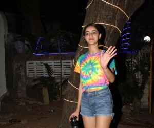 Actress Ananya Pandey spotted at andheri