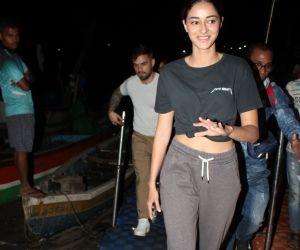 Actress Ananya Pandey spotted at versova jetty