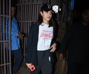 Actress Anushka Sharma seen at bandra.