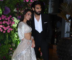 Actress Athiya Shetty and brother at Arman Jain wedding reception
