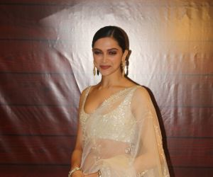 Actress Deepika Padukone  at Javed Akhtar's Birthday.