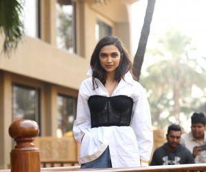 Actress Deepika Padukone Posses for Photo.