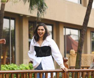 Actress Deepika Padukone at promotion of her film Chhapaak
