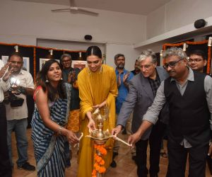Actress Deepika Padukone at the press club calendar launch at Mumbai press club.