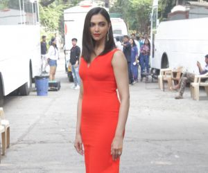 Actress Deepika Padukone seen at Dance+5 Sets Promoting Film Chappak