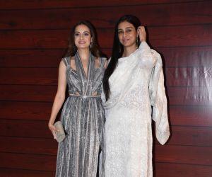 Actress Dia Mirza  and Tabu  at Javed Akhtar's Birthday.