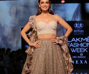 Actress Dia Mirza at Lakme Fashion Week Day