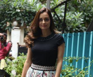 Actress Dia Mirza spotted at Bandra