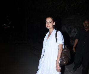 Actress Dia Mirza spotted at Zoya Akhtar's house in bandra