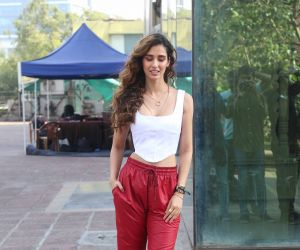 Actress Disha Patani at Luv Films office in andheri for the promotions of film Malang