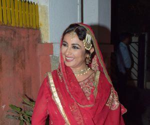 Actress Divya Dutta attend Javed Akhtar birthday party at juhu.
